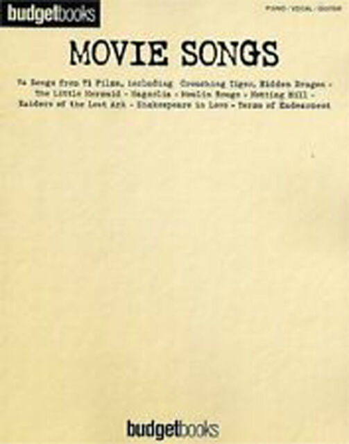 Budget Books Movie Songs Piano Voice Guitar Film Songbook Music Book B37