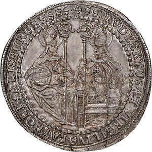 Salzburg-1-2-Thaler-1705-NGC-MS66-Ex-VIRGIL-BRAND-1861-1926
