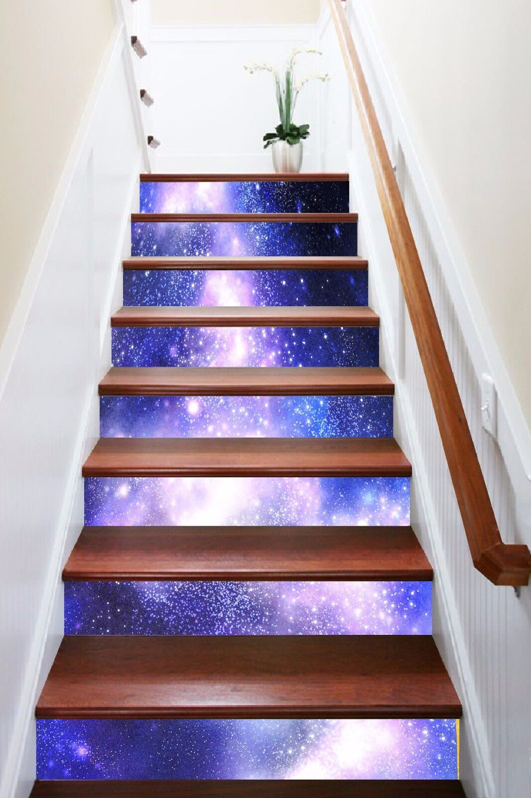 3D Shiny Stars 808 Stair Risers Decoration Photo Mural Vinyl Decal Wallpaper AU