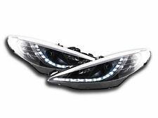 Peugeot 207 (2006-2013) Black LED DRL Daylight Running Headlights RHD Pair NEW