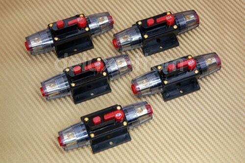 12V-24V DC HOME SOLAR SYSTEM WATERPROOF CIRCUIT BREAKER RESET FUSE INVERTER NEW