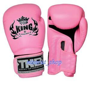 TOP KING BOXING GLOVES 8,10,12,14,16 oz.BLACK SUPPER AIR MUAY THAI MMA