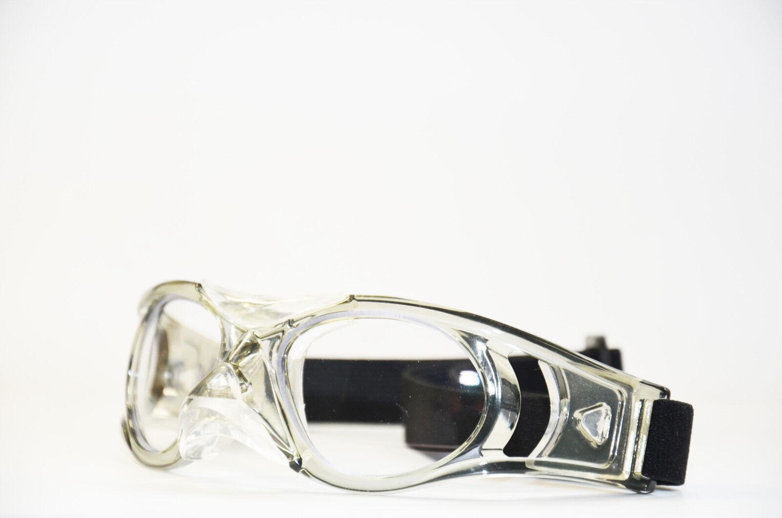 Sportbrille grau Gläser in Sehstärke Schutzbrille + Korrektion Erwachsene Neu