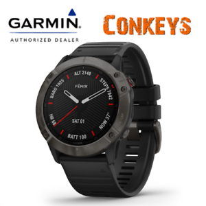 Garmin Fenix 6x Sapphire GPS Watch W/ Wrist Heart Rate Technology 010-02157-10