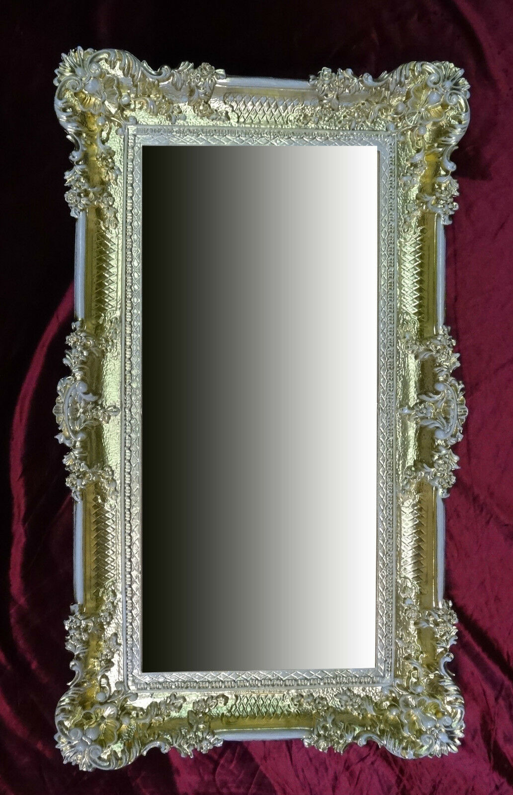 XXL Miroir mural rectangulaire Or/Blanc Baroque décoration ancien 96x57 96x57 96x57 WOW   Une Bonne Réputation Dans Le Monde Entier  b0fa56