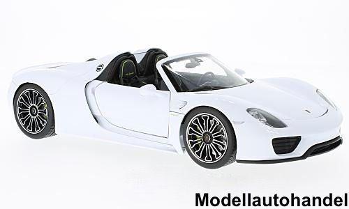 Porsche 918 Spyder Congreenible 2011-White - 1 18 Welly    SALE