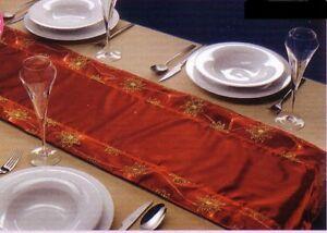 CHEMIN DE TABLE LUMINEUX AVON rouge décoration fêtes | eBay