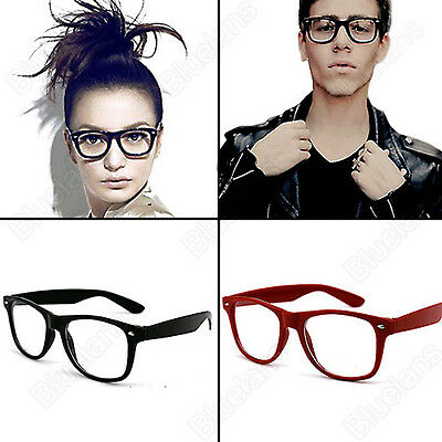 All-Match Chic Unisex Clear Men Women Retro Lens Wayfarer Nerd Geek Glasses BJ3U