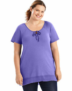 Just-My-Size-Hi-Lo-Women-Tunic-Shirt-Top-Short-Sleeve-5-Colors-Plus-Size-XL-5XL