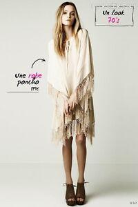Robe-Top-Poncho-Zara-Woman-M