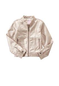 fe015aec269e NWT Gymboree WILDFLOWER WEEKEND Big Girls Silvery Rose Moto Jacket ...