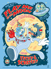 The Simpsons Itchy & Scratchy Flay Me To The Moon Poster Screen Print #/195 SIGN
