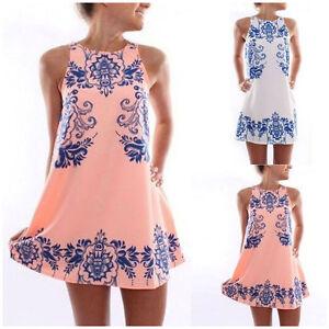 Women-039-s-Summer-Beach-Boho-Floral-Print-Sundress-Sleeveless-Short-Mini-Dress