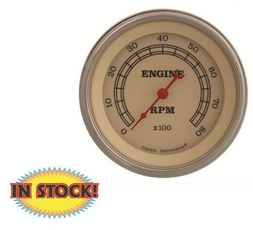 "SLF Classic Instruments VT80SLF Vintage 3-3//8/"" 8000 rpm Tachometer Gauge"