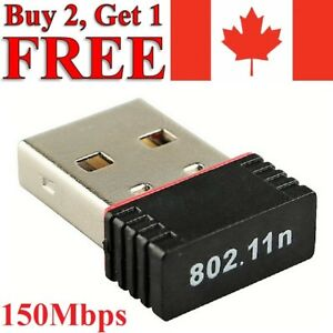 USB WiFi Wireless Adapter Mini Network Dongle 150Mbps Windows MAC Linux 802.11n