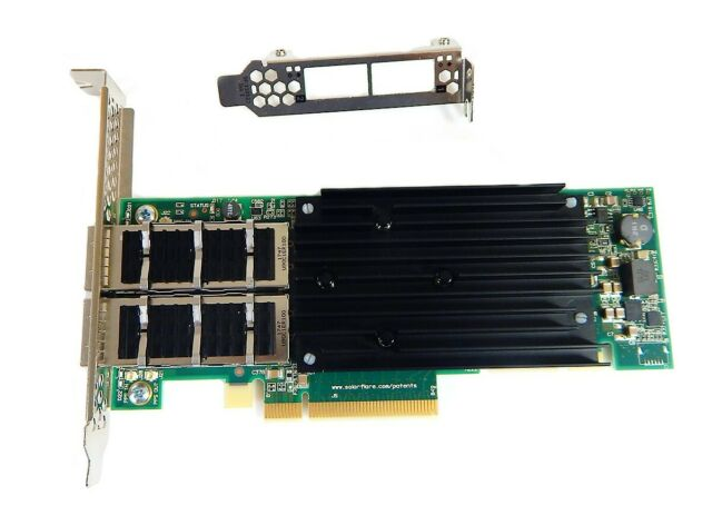 Server Adapter NEW Solarflare Flareon Ultra SFN7042Q-PXE Dual Port 40GbE QSFP