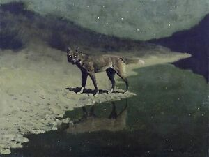 Frederic-Remington-MOONLIGHT-WOLF-giclee-repro-canvas
