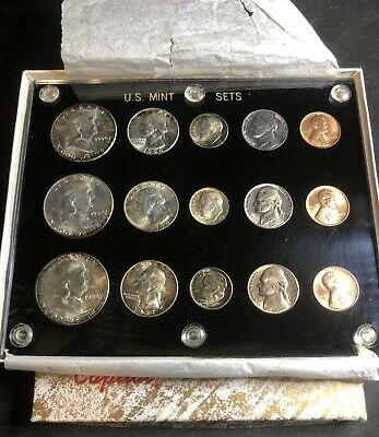 Mint Set 1954 P-D-S U.S 15 Brilliant Uncirculated coins in a Capital holder