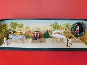 Lucotte: rare and magnificent diorama: la grande caravan
