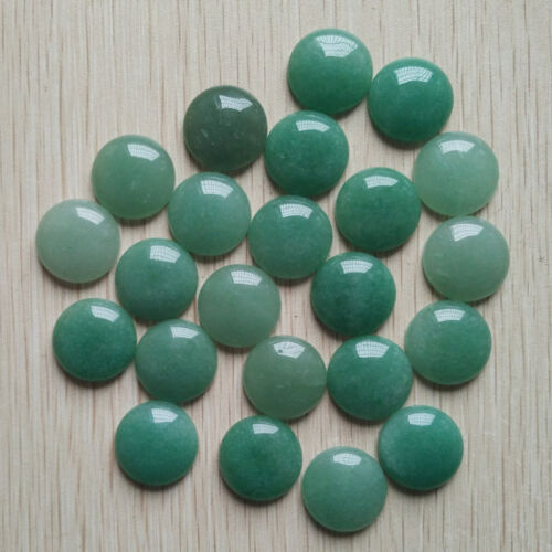 Fashion Vert Naturel Aventurine Round Cabochon 20 mm perles 30pcs//lot en gros
