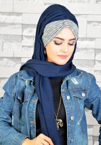 BD80 Fertig Kopftuch Hazir  Bandana Türban Esarp Sal Tesettür Hijab Khimar