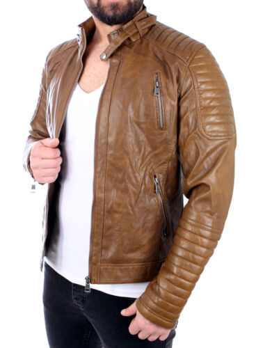 Cuir Similicuir Reslad Zipp Veste Leather En Jacket qWCCx81Iwz