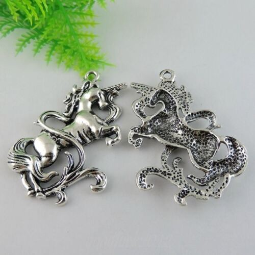 38966 Antique Silver Tone Alliage GNOU Charms Pendentif Bijoux 6PCS