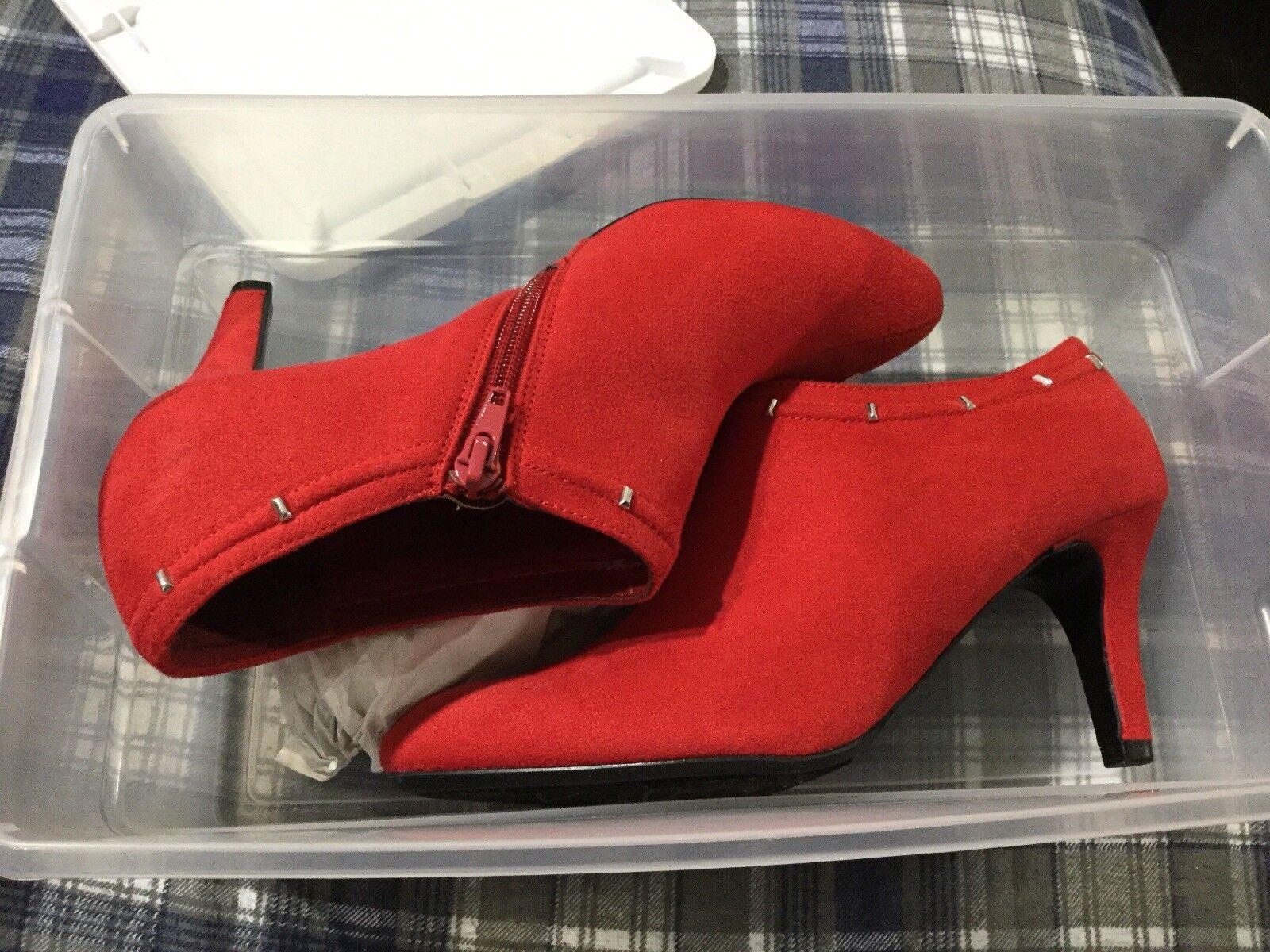 Convington red ankle boots size 7m