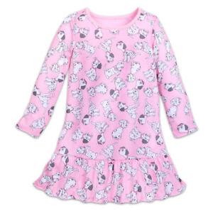 Disney-Store-101-Dalmatians-Nightshirt-NightGown-4-5-6-7-8-Girls-Long-Sleeve-New