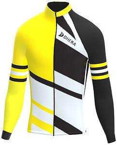 3d31adea92 La imagen se está cargando Manga-Larga-Invierno-Bicicleta-Ciclismo-Camiseta -Completo-Cremallera-