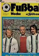 Fußball Woche 23/1975,Bundesliga,VfB STUTTGART POSTER,Hennes Weisweiler