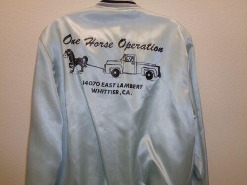 Vintage Satin Jacket Whittier California One Horse