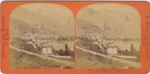 Suisse-Panorama-Da-MONTREUX-Foto-Lamy-PL39L5n1-Vintage-Stereo-Albumina