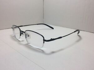 fe26a06eef01 Image is loading Zenni-Eyeglasses-FRAMES-Half-Rimless-Designer-Black-50-