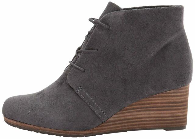Dr. Scholl's Womens Dakota Fabric Closed Toe Ankle Fashion Boots, Grey, Size 9.5