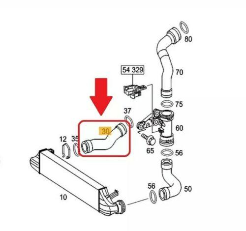 La manguera de Turbo para Mercedes C de Clase S203 W203 200 220 CDI Ref.Nr 2035281782