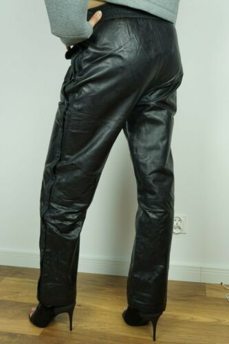 NEW H/&M ALEXANDER WANG PANTS LEATHER JOGGING TROUSERS US4 6 8 10 12 34 36 38 40