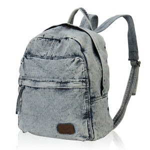 Jean Fashion Women Denim Backpack Daily Carry Shoulder Bags ...