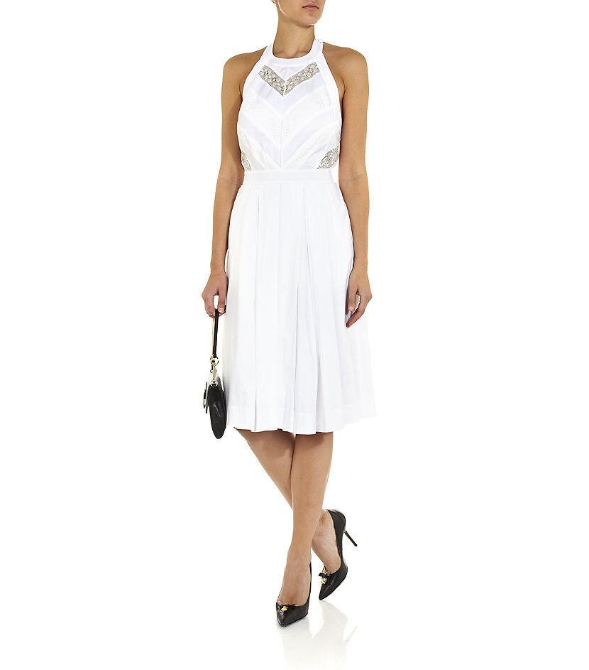 Temperley London blancoo Sacha  Chevron Encaje Vestido Talla 12       Envío y cambio gratis.