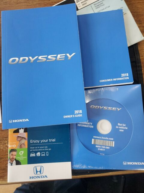 2018 Honda Odyssey Owners Manual Set Guide  Case Lx Ex