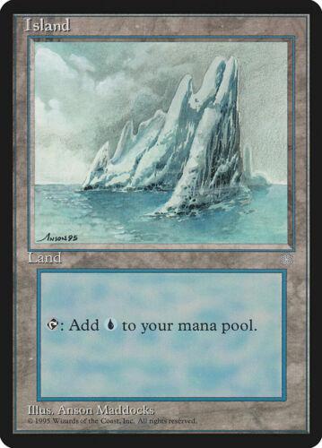 Ice Age Island land lot 7 of each art MTG 21x x21 LP//MP Light//Moderate play