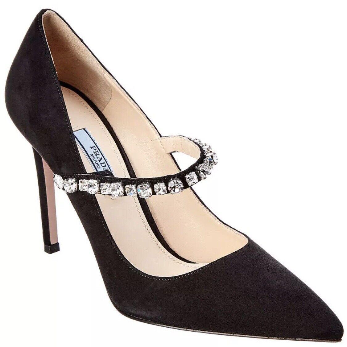 PRADA Crystal  Emellited Sue Pump Heels NIB  sconto prezzo basso