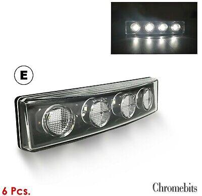 2 luci LED bianche per parasole Scania serie R//P//G con visiera
