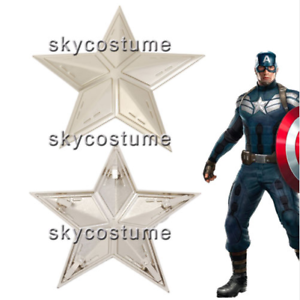 Captain America The Winter Soldier Steve Rogers Metal Buckle Star Insignia Badge