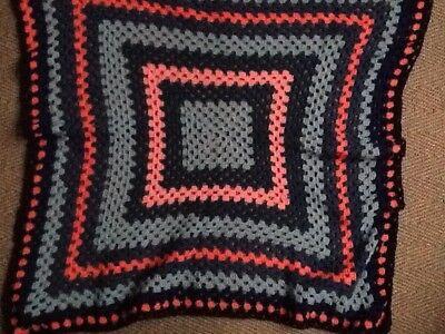 100% Lana Hand Crochet Coperta (blu/rosa)- Una Grande Varietà Di Modelli
