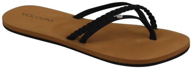 a697cfaeb6c6a Volcom Women s Thrills Sandal Black 8 8 for sale online