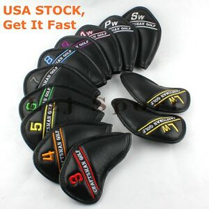 USA-12pcs-Golf-Iron-Wedge-Head-covers-For-Taylormade-Mizuno-Cobra-Callaway-Ping