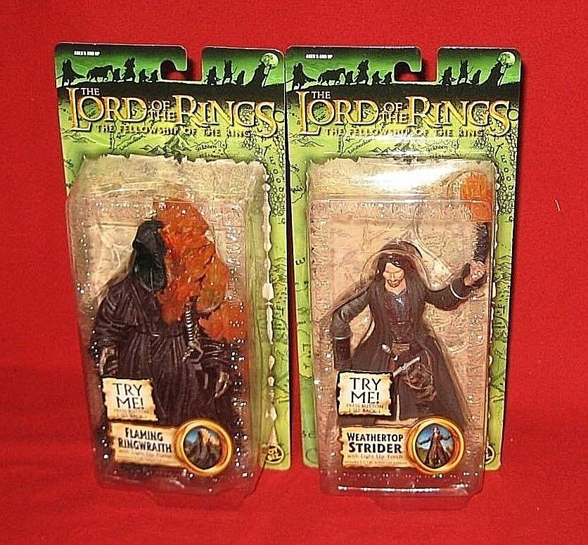 Lord of the Rings ToyBiz WEATHERTOP STRIDER & FLAMING RINGWRAITH Figures NEW