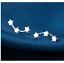 OHRSTECKER-3-STERNE-SILBER-DAMEN-OHRRINGE-OHRSCHMUCK-SCHMUCK-OHRRING-NEU Indexbild 1