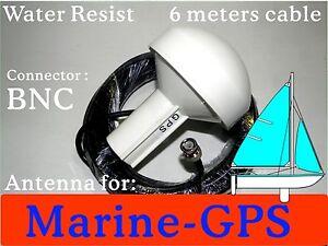 Marine-GPS-Active-Antenna-6M-BNC-4-chartplotter-receiver-Garmin-Lowrance-Mio-MA